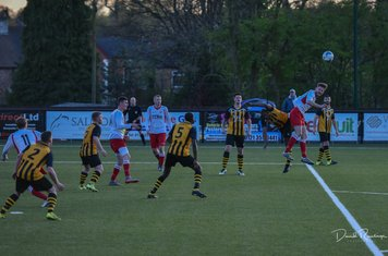 Seabourne wins this aerial challenge v Paget Rangers (A) photo courtesy of David Rawlings