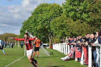 Max Crisp celebrates his assist - courtesy of David Rawlings