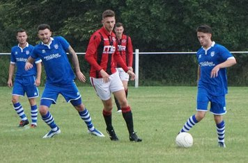 Seeley, Allerton & Crisp  vs FC Stratford - courtesy of Mathew Mason