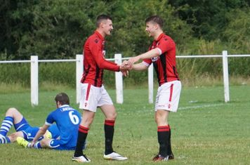 Lemon & Crisp celebrate the 2nd goal  vs FC Stratford - courtesy of Mathew Mason
