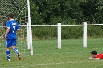 Lemon scores the 2nd  vs FC Stratford - courtesy of Mathew Mason
