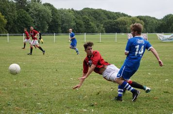 Townley sliding in  vs FC Stratford - courtesy of Mathew Mason