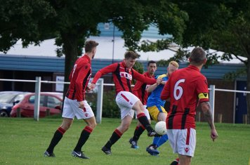 Mark Burrows celebrate vs Inkberrow - courtesy of Mathew Mason
