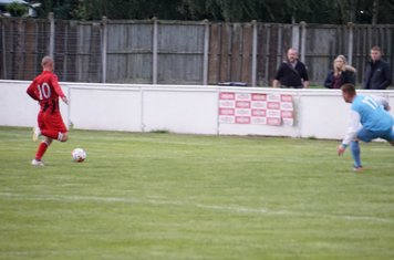 Macauley Finch shoots  vs Pelsall Villa - photo courtesy of Mathew Mason