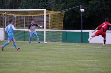 Curtis Townley's volley vs Pelsall Villa - photo courtesy of Mathew Mason
