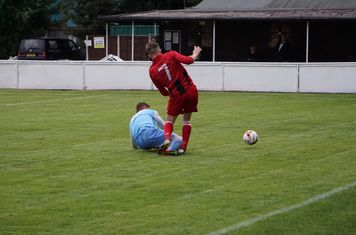 Nick Seabourne's injury vs Pelsall Villa - photo courtesy of Mathew Mason