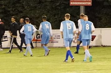 Players leaving the pitch vs Pelsall Villa - photo courtesy of Mathew Mason