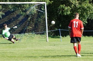 Fairfield score a penalty vs Fairfield Villa (A) photo courtesy of Mathew Mason