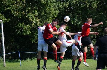 Lemon win this header vs Fairfield Villa (A) photo courtesy of Mathew Mason
