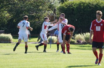 Finch congratulated on Spa's second vs Fairfield Villa (A) photo courtesy of Mathew Mason