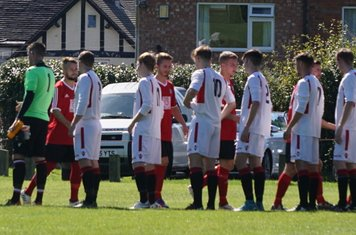 The two teams greet each other vs Fairfield Villa (A) photo courtesy of Mathew Mason