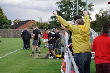 final whistle celebrations  vs Pegasus Juniors (A) FA Vase 1QR - photo courtesy of Mathew Mason