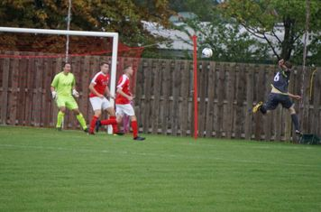 Graeme Pardoe shoots  vs Pegasus Juniors (A) FA Vase 1QR - photo courtesy of Mathew Mason