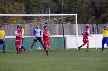 Allerton celebrates  v Alcester Town (H) - photo courtesy of Mathew Mason