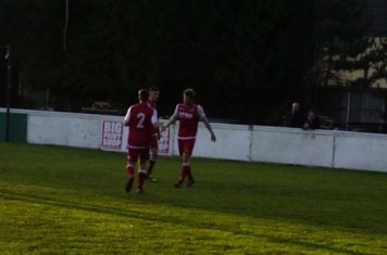 Seabourne congratulated on his goal vs Moors Academy - photo courtesy of Mathew Mason