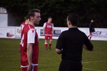 Pardoe gets a warning vs Moors Academy - photo courtesy of Mathew Mason