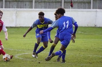 Haydn Morris vs Moors Academy - photo courtesy of Mathew Masonq