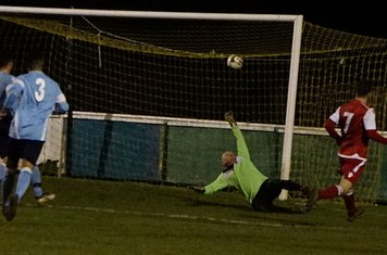 Brad Burgess scores Spa's 3rd v Hampton (H) - photo courtesy of Mathew Mason
