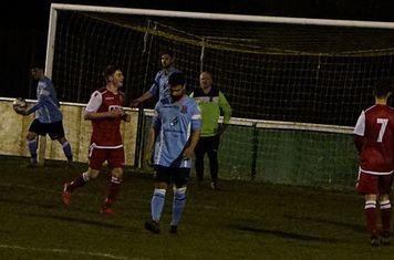Hunt congratulated on his goal v Hampton (H) - photo courtesy of Mathew Mason