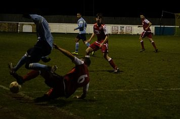 Andy Crowther v Hampton (H) - photo courtesy of Mathew Mason
