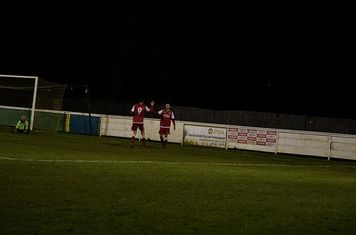 Burgess congratulated on another goal v Hampton (H) - photo courtesy of Mathew Mason