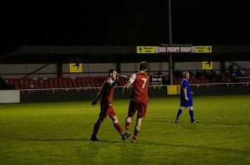 Seabourne congratulates Matty Hunt on his goal v Redditch Boro' (H) - photo courtesy of Mathew Mason