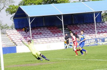 Lemon scores his brace v Moors Academy (A) photo courtesy of Mathew Mason