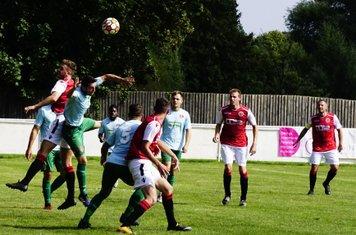 Spa defend vs Coventry United - photo courtesy of Mathew Mason