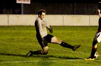Brad Burgess scores vs Telford Juniors (H) photo courtesy of Mathew Mason