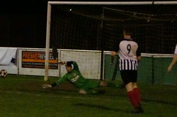 Matty Oliver saves vs Wyrley (H) photo courtesy Mathew Mason