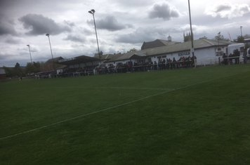 The main stand & spectators