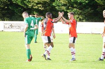 Jacobs & Burgess celebrate vs Allscott Heath (H)- photo courtesy of Mathew Mason