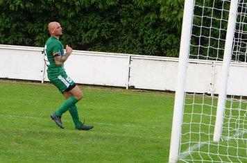 Collins scores vs Allscott Heath (H)- photo courtesy of Mathew Mason