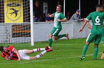 Spa penalty award vs Allscott Heath (H)- photo courtesy of Mathew Mason