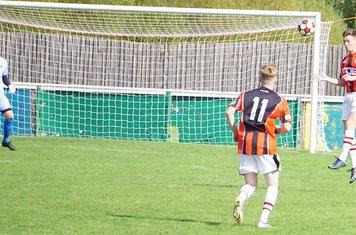 Lewis Phillips vs Allscott Heath (H)- photo courtesy of Mathew Mason