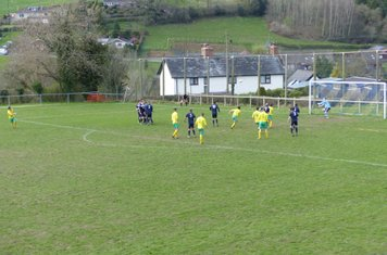 Ant Williams turns away after dispatching his free kick