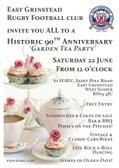 EGRFC 90th Anniversary Garden Tea Party - 22 June 2019