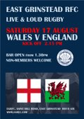 LIVE THIS SATURDAY - WALES V ENGLAND