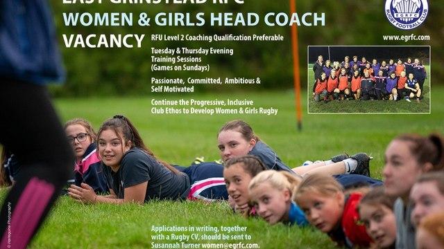 East Grinstead RFC Begin Search For Women & Girls Head Coach
