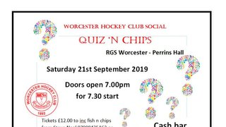 Don't forget its Quiz and Chips night this Saturday (21st)!