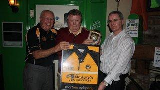 Ganley's Irish Bar Shirt Presentation 2010