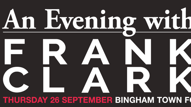 An Evening with Frank Clark  - Thursday 26th September (supported by Frank Key)