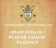 Clitheroe RUFC in search for new Head Coach/Player Coach