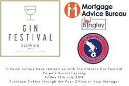 Eldwick Juniors Teams up with Eldwick Gin Festival 2019