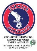 Eldwick Juniors U13's Eagles Team Win their League 2018/2019