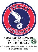 Congratulations to Eldwick Juniors u12's Hawks - 2nd Place in their League