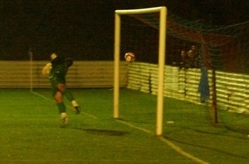in the net. 1 nil up. 15th min.