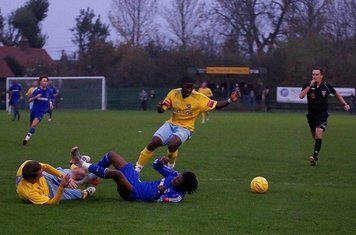 Joao fouled again in area-another penalty.(Mikey Cartwright photo)