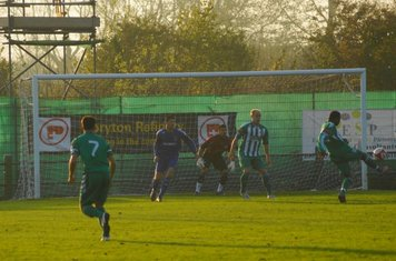 Early Soham shot ends up over the bar.