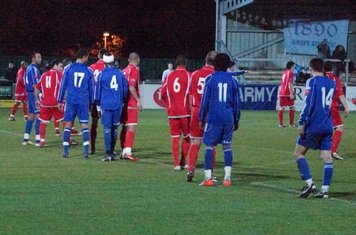 Lining up for Harry,s  free kick-